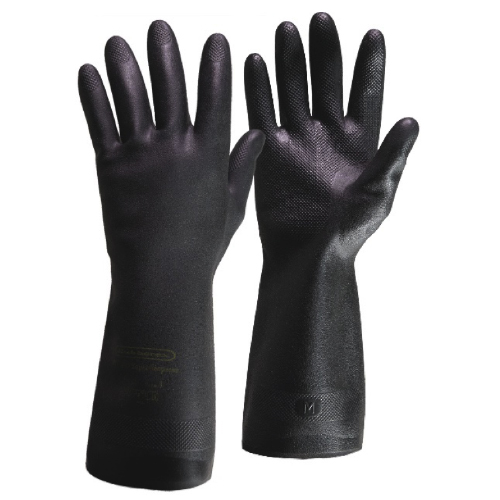 Neoprene Rubber Gloves, Rubberex, Size 10, Green