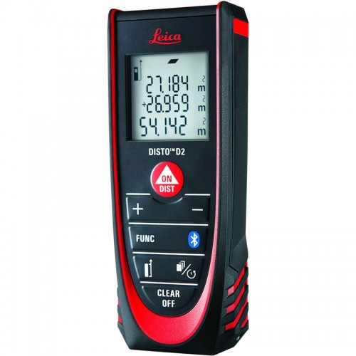 Leica DISTO D2 Laser Distance Measurer with Bluetooth 100m