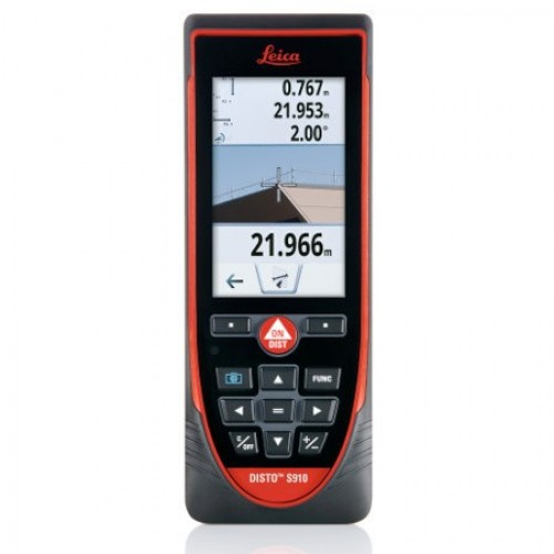 Leica DISTO S910 Laser Distance Measurer 300m with Touchscreen, LI-Ion battery