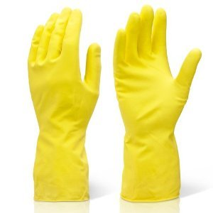 Prima Latex Rubber Gloves Liquid Proof 10inch Yellow XL