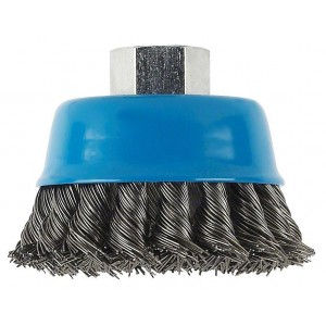 Bosch Wire Cup Brush 100mm M10 Crimped Brass