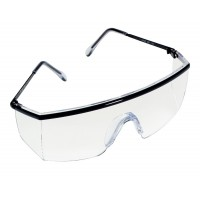 3M 1710 IN Stingrays Safety Goggles Protective Eyewear, Black frame with Clear Lens