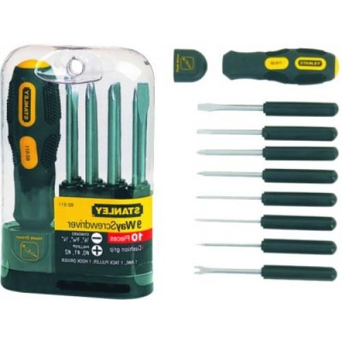 Stanley 9 way screwdriver set