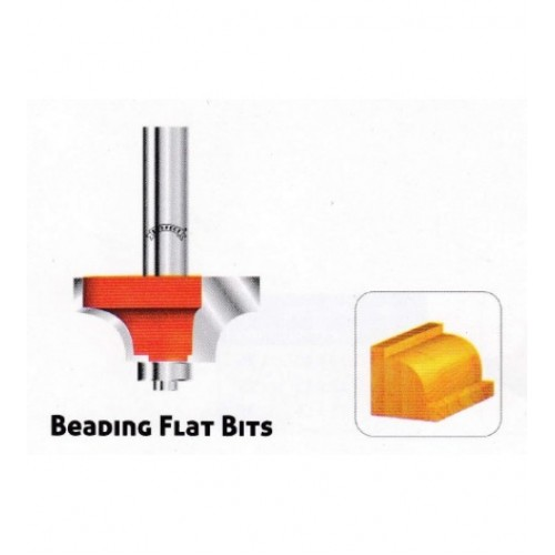 Beading Flat Router Bit 8mm shank, 24.7mm dia, 8x8mm size