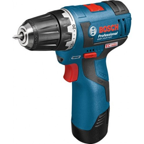 Bosch GSR 10.8 V-EC Professional Cordless Drill Driver with Brushless Motor