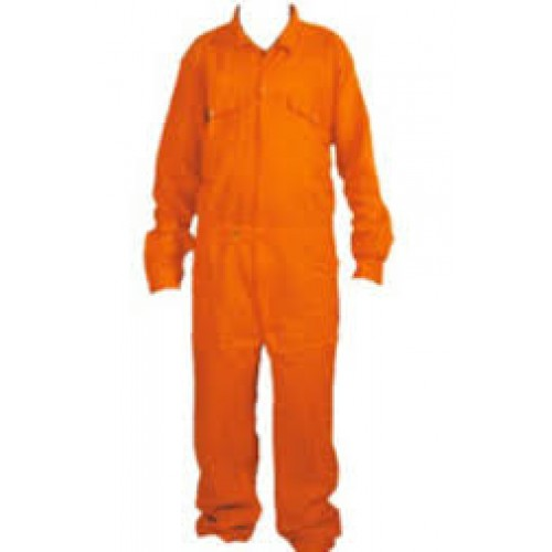 Boiler Suit - Cover All Work Wear - Cotton - Orange