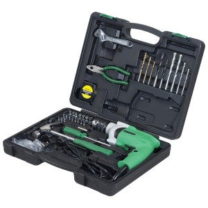 Hitachi DV13VSS Impact Drill 13mm 550w with 93pcs tool Kit