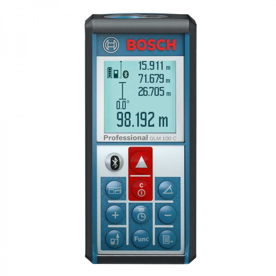bosch glm 100 c laser distance meter with bluetooth 100mtr. Black Bedroom Furniture Sets. Home Design Ideas