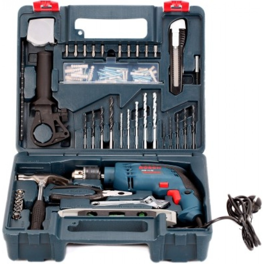 bosch gsb 13 re kit 13mm impact drill with 100pcs smart kit. Black Bedroom Furniture Sets. Home Design Ideas