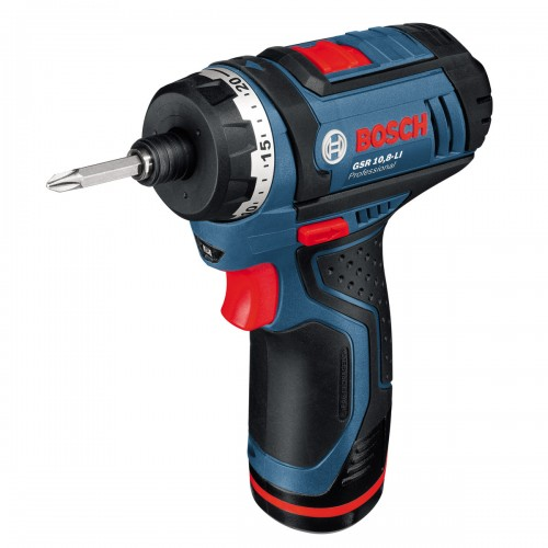 Bosch GSR 10.8 LI Professional Cordless Screwdriver with 6mm hex socket 10.8v, Li-Ion